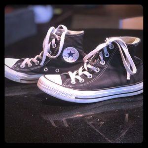 Black Converse high tops
